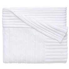 White Classic Cable Blanket