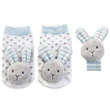 Blue Bunny Rattle Socks