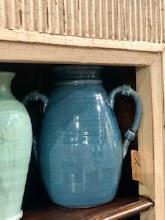 Blue Handthrown Jar