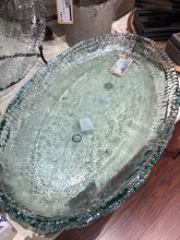 Clear Rustic Oval Platter
