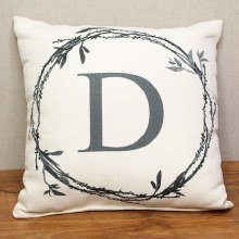 Twig Initial Pillow D