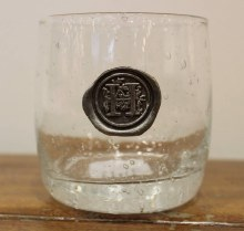 "Double Old Fashion Glass ""H"""