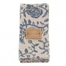 Floral Stamp Napkin Set