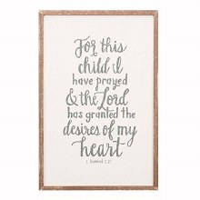 For This Child Wall Art