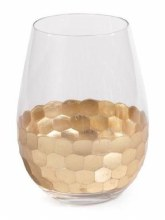 Fez Gold Wine Glass