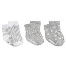 Gray Baby's First Socks