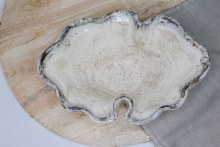 Birch Oval Fluted Bowl