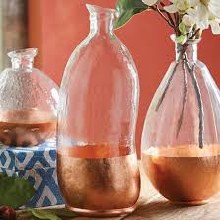Large Copper Glass Vase