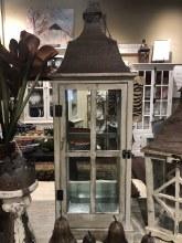 Large Glass Tin Lantern