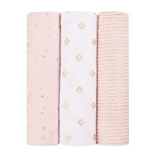 Metallic Charm 3 Pack Swaddles