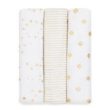 Metallic Gold Three Pack Swaddles