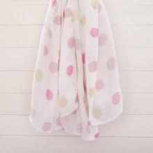 Muslin Swaddle Dots/Pink