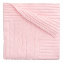 Pink Classic Cable Blanket