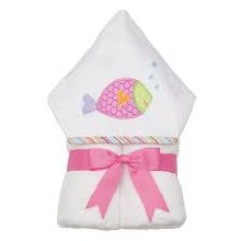 Pink Fish Hooded Towel