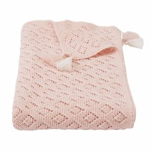 Pink Pointelle Blanket