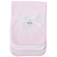 Pink Pointelle Burp Cloth