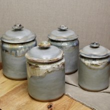 Etta B Peaceful Waters Canister Set