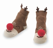 Reindeer Rattle Toe Socks