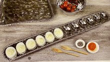 Silver Deviled Egg Tray