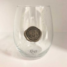 "Stemless Wine Glass ""H"""