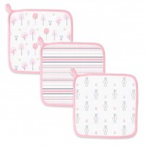 Pink Muslin Washcloth