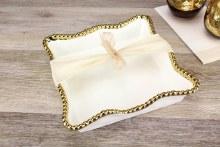White Gold Napkin Holder