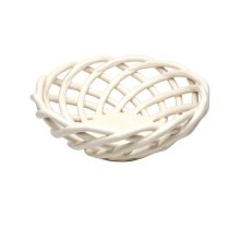 White Medium Round Basket