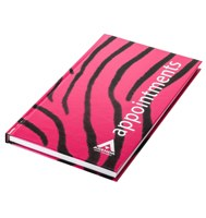 Agenda Appointment Book 3 Column Zebra Black/Pink