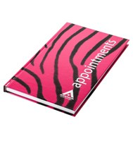 Agenda Appointment Book 6 Column - Zebra Black/Pink