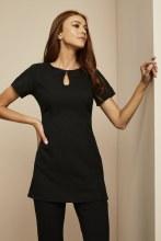 Keyhole Tunic Black Size 6