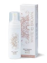 White To Brown Self Tanning Mousse Medium 150ml