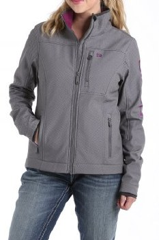 Conceal Carry Bonded Jacket Gray/Purple