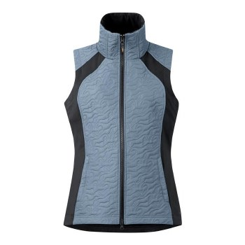 QUILTED VEST UNBRDL HRS BLU S