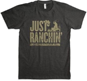 Just Ranchin Tee Black L