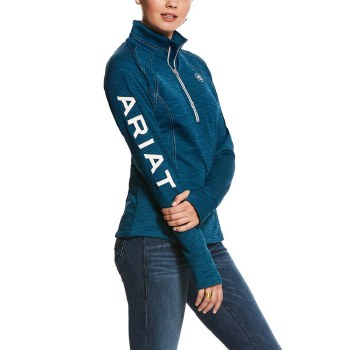 Ariat TEK Team 1/4 Zip Sweatshirt Dream Teal M
