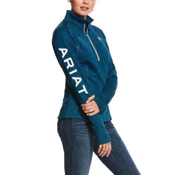 Ariat TEK Team 1/4 Zip Sweatshirt Dream Teal S