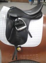 "Colligiate Dressage Saddle 17"" Used"