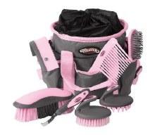 7 pc Grooming Kit Pink Gray