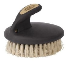 Palm-Held Face Brush Tan/Black