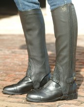 Black Top Grain Half Chaps