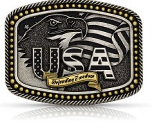Montana Silversmiths Defending Freedom USA Buckle