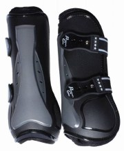 Pro Performance Air Shock Open Front Jump Boots - Black