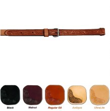 Circle Y Floral Tooled Flank Cinch Regular Oil