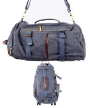 Blue Canvas Duffel/Backpack