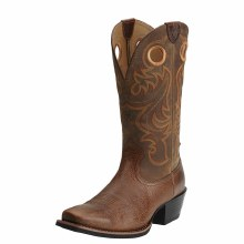 Ariat Sport Square Toe Western Boot Fiddle Brown