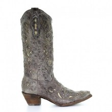 "Corral ""Roberta"" Boot in Brown Crater"