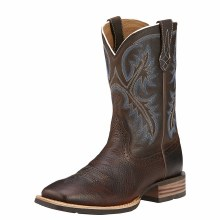 Ariat Quickdraw Western Boot Brown Oiled Rowdy