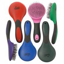 Tough-1 Mane & Tail Brush Great Grip Pink