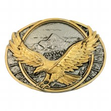 Montana Silversmiths Two Tone Soaring Eagle Belt Buckle