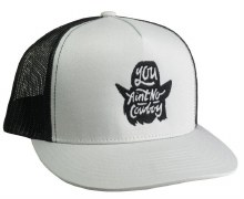 You Ain't No Cowboy Silhouette Silver/Black Mesh Flatbill